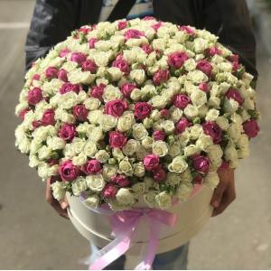 101 кустовая роза микс R1950