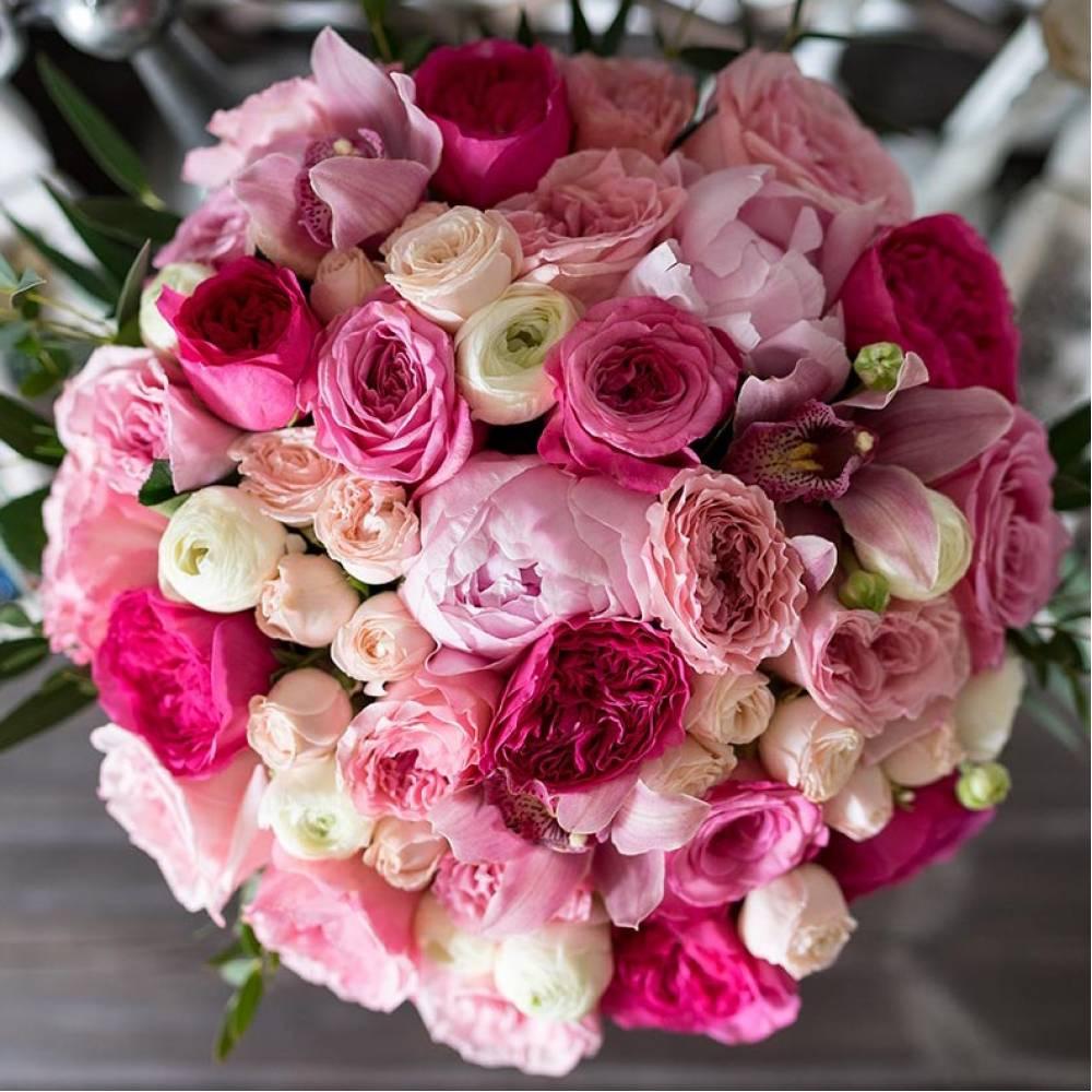 любом букет пионы с розами фото ней